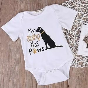 Other - My Sibling has Paws Onsie